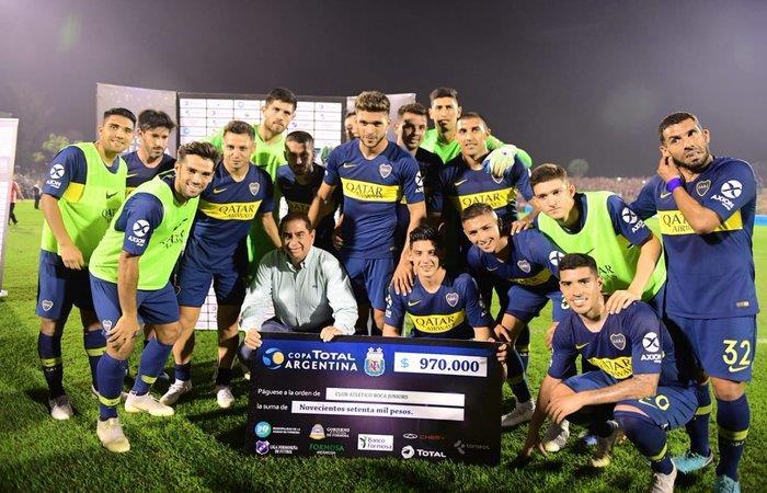 Boca Juniors venció 2-0 a San Martín de Tucumán. Foto: Twitter
