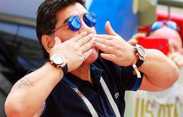 Como hace 32 años, Maradona vuelve a México