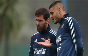 Icardi considera positivo que Messi no esté