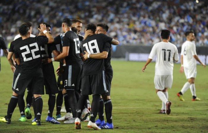 Argentina le gana 3-0 a Guatemala. Foto: Twitter