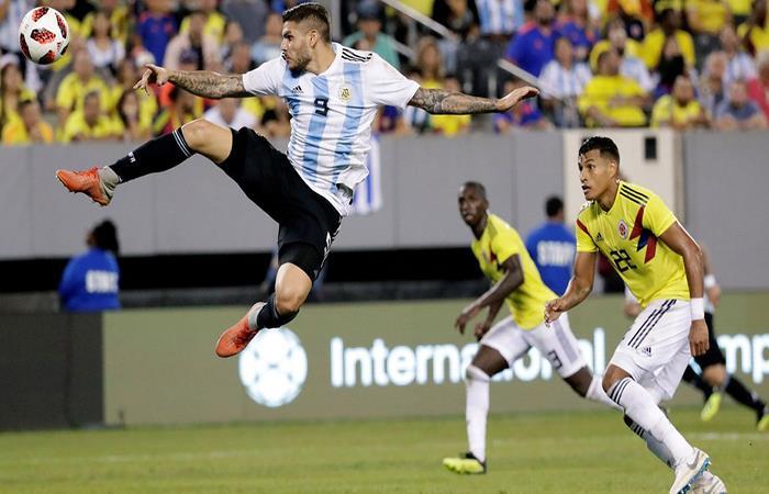 Mauro Icardi durante el partido ante COlombia. (FOTO: AFP)