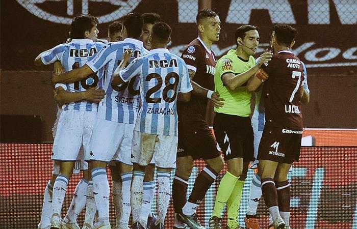 Racing venció 1-0 a Lanús. Foto: Twitter
