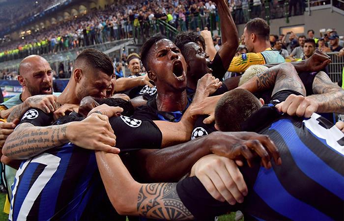 Inter Venció 2-1 al Tottenham. Foto: EFE