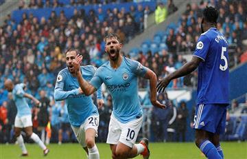 Sergio Agüero anotó un golazo en su partido 300 con el Manchester City