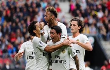 Ángel Di María comenzó la remontada para el PSG que venció al Rennes