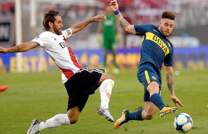 Boca Juniors vs River Plate. Foto: Twitter