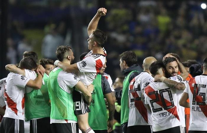 River Plate celebra el triunfo. Foto: EFE