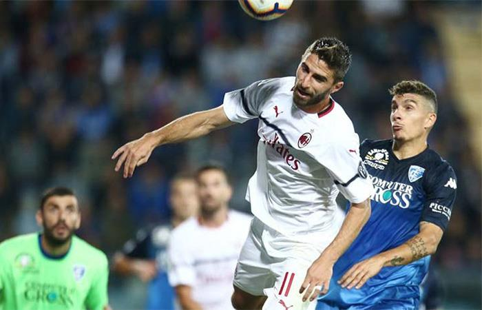 Milán igualó 1-1 ante el Empoli. Foto: Twitter