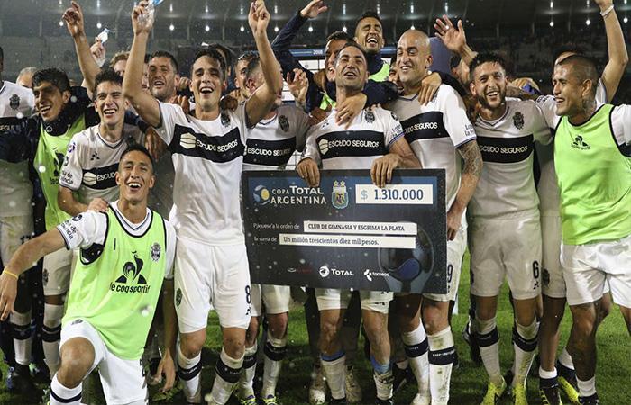 Gimnasia venció 1-0 a Boca Juniors. Foto: Twitter