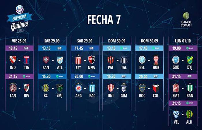 Las radios de la Superliga Argentina. Foto: Twitter