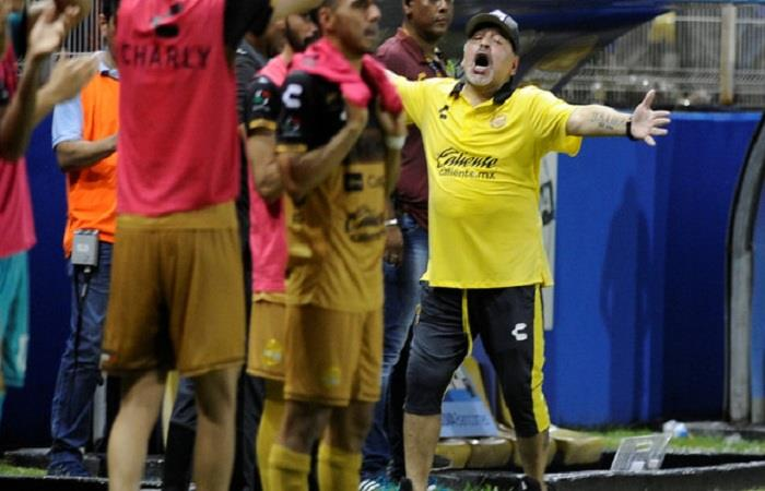 Diego Armando Maradona en la celebración. Foto: AFP