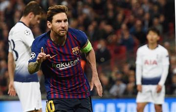 Los goles de Messi y Lamela en el triunfo del Barcelona
