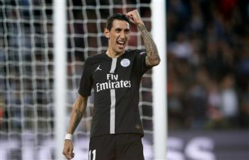 Di María anotó en la goleada del PSG por Champions