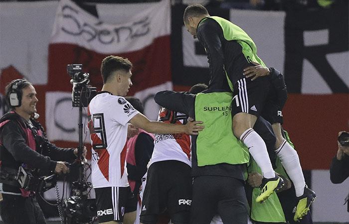River Plate derrotó 3-1 a Independiente. Foto: EFE