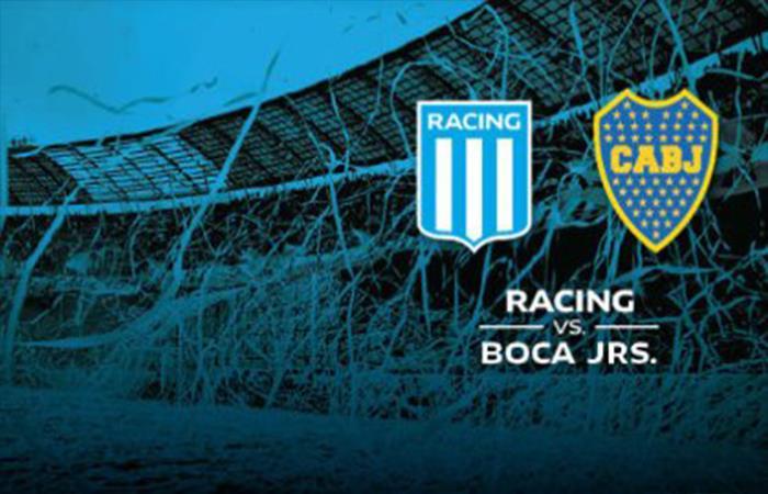 Racing vs Boca. Foto: Twitter