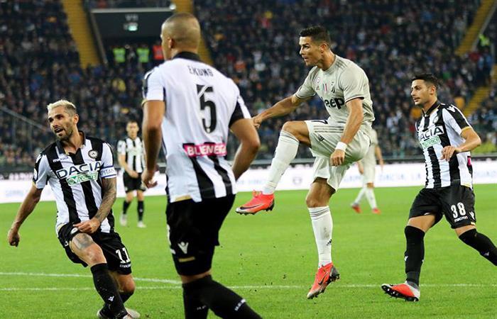 Juventus volvió a ganar y es líder de la Serie A. Foto: EFE
