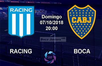 Racing Club vs Boca Juniors: EN VIVO ONLINE