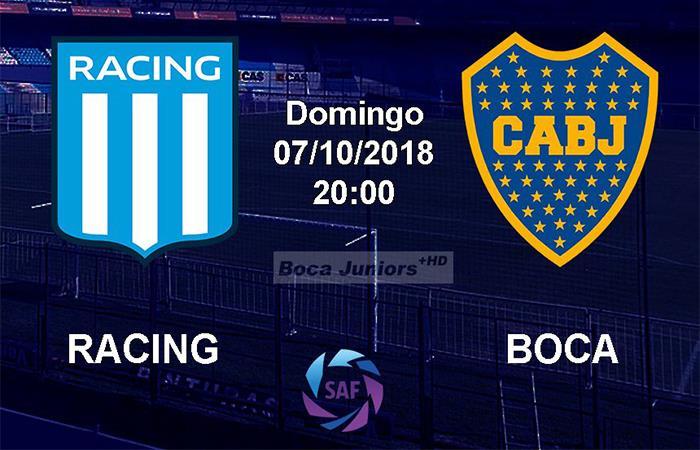 Racing vs Boca Juniors (Foto: Twitter)