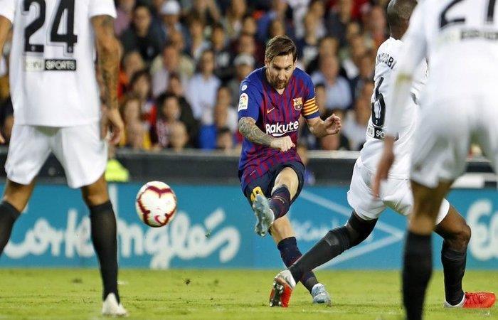 Valencia igualó 1-1 ante el Barcelona. Foto: Twitter