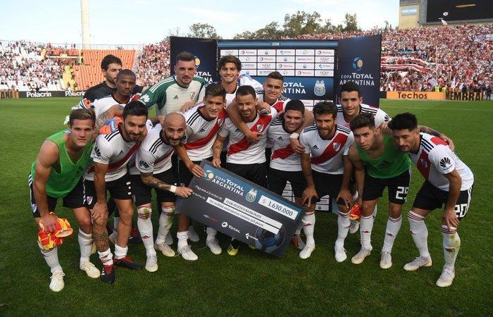 River Plate venció 3-1 a Sarmiento. Foto: Twitter