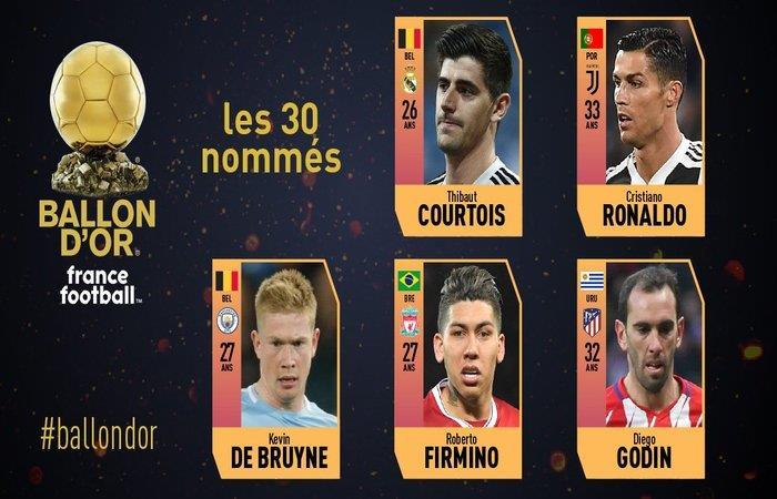 Nominados al balón de oro (Foto: Twitter)