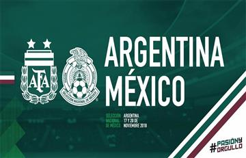 Argentina choca ente México en noviembre