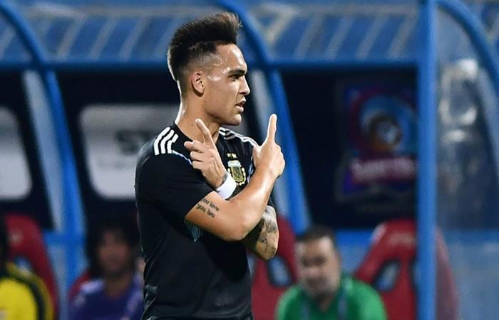 Argentina vs Irak: Lautaro Martínez anotó el primer gol ...