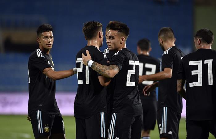 Argentina derrotó a Irak en gran partido. (FOTO: AFP)