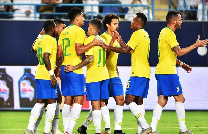 Brasil derrotó 2-0 a Arabia Saudita. Foto: Twitter