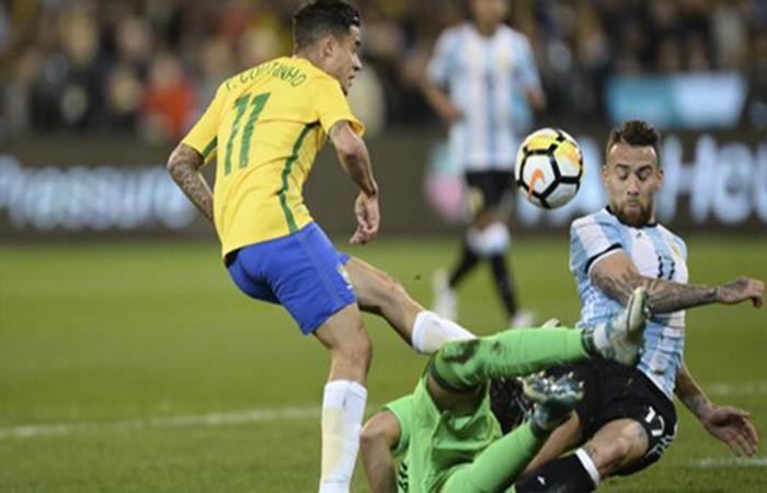Argentina vs Brasil. Foto: Twitter