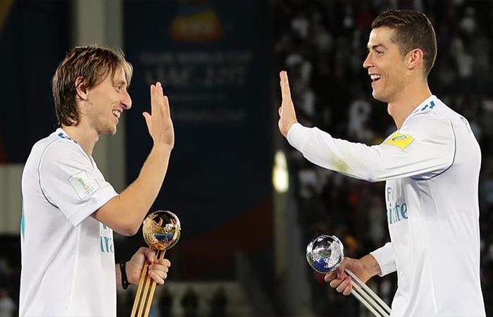 Luka Modric y Cristiano Ronaldo (Foto: Twitter)