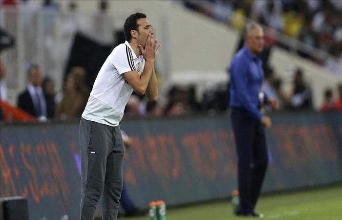 Lionel Scaloni ante Brasil. (FOTO: AFP)