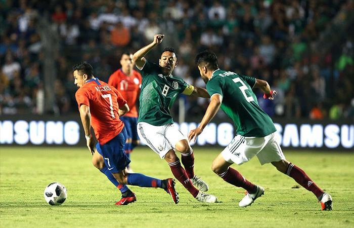 Chile venció 1-0 a México (Foto: Twitter)