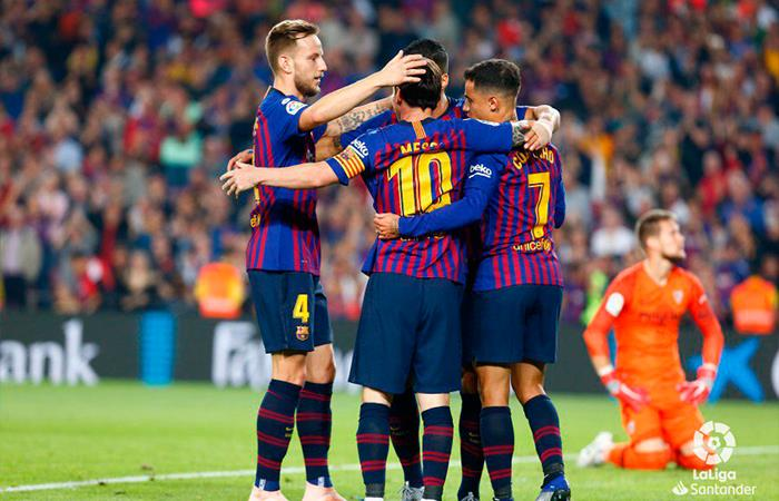 Barcelona ganó 4-2 al Sevilla. Foto: Twitter