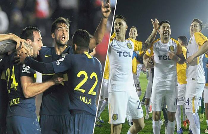 Boca Juniors y Rosario Central en el partido de la fecha. Foto: Twitter