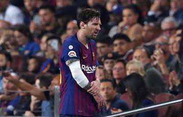 Mirá la terrible lesión de Messi que lo sacó del partido