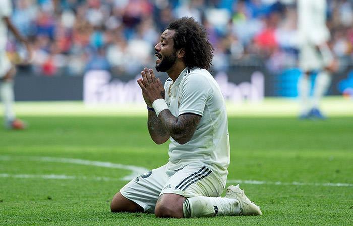 Marcelo lamentando la derrota del Madrid. (FOTO: EFE)