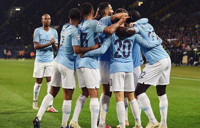 Manchester City vence 3-0 Shakhtar (Foto: Twitter)