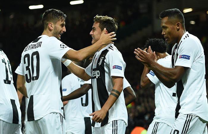 La Juventus vence por la mínima diferencia al Manchester United