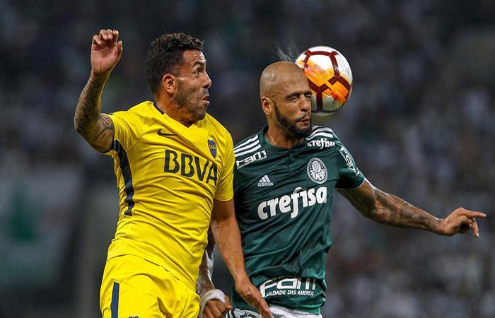 Carlos Tevez y Felipe Melo. (FOTO: EFE)