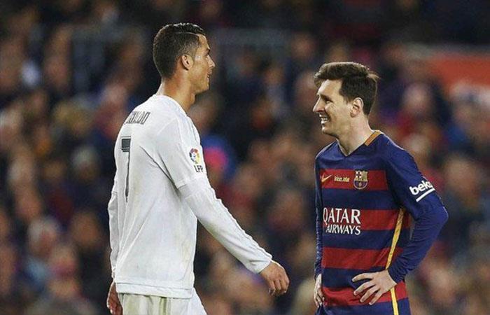 Lionel Messi y Cristiano Ronaldo. Foto: Twitter