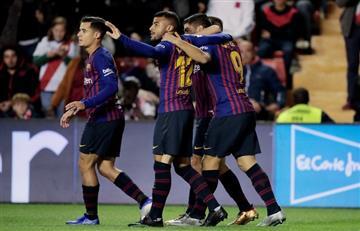 Barcelona de Lionel Messi líder absoluto en la Liga Española