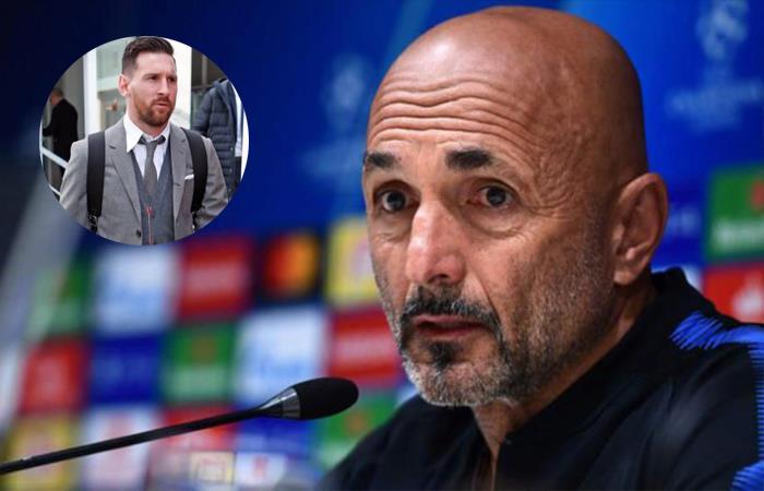 Luciano Spalletti ya vive el encuentro ante el Barcelona hablando de Messi