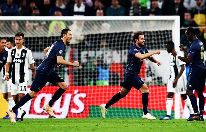 Juventus cae 1-2 ante el Manchester United. Foto: Twitter