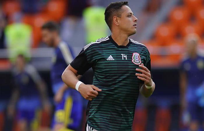 Javier Hernández. Foto: Twitter