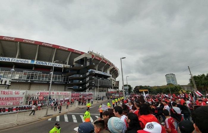 El banderazo de River Plate. Foto: Twitter