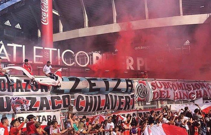 Hinchad de River Plate. Foto: Twitter