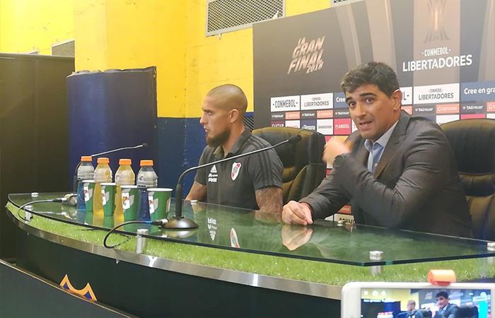 Matías Biscay y Jonatan Maidana. Foto: Twitter
