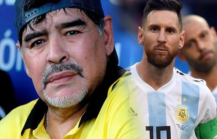 Diego Maradona y Lionel Messi (Foto: Twitter)