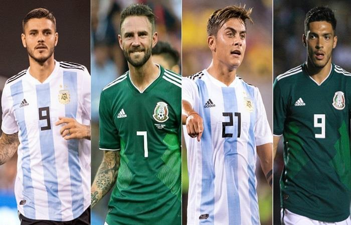 Argentina vs México. Foto: Twitter